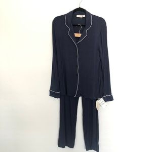 NORDSTROM Navy Lingerie Pajamas 2-Piece NEW